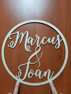 Personalised wedding laser cut wooden lettering name sign