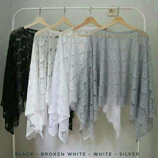Brukat cape outer (GREY only)