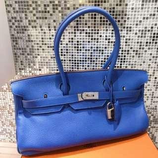 Hermes Birkin shoulder  7Q希臘海水藍🌊很浪漫的顏色 原價8萬多,現貨 好價hkd 5*000  基本新品同樣99新🌈