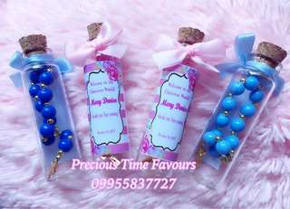 Rosary Souvenir in a Bottle