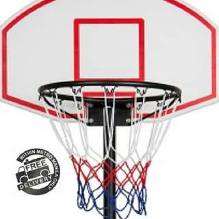 New Basketball Court Hoops Ring Backboard