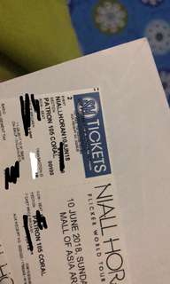 DISCOUNTED NIALL HORAN PATRON TICKET