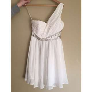 White Formal Dress with Detailing size 12
