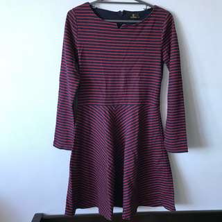 Stripes red/black dress Size M