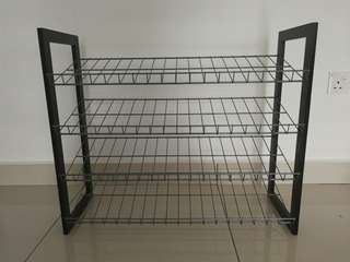 3 tiers metal shoe rack
