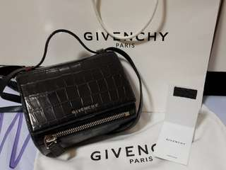 Authentic givenchy pandora box mini croc