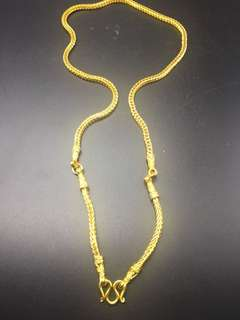 High grade 5 layer micron gold 3 hook necklace
