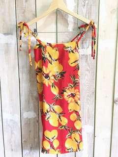 Tie sleeves dress