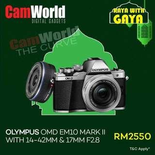 OLYMPUS OMD EM10 MK II TWIN LENS 14-42+17mm f2.8