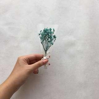 Dried Blue Baby Breath Flower (Mini Bouquet)