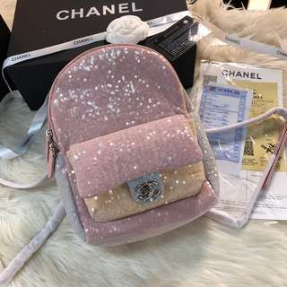 Chanel sequins backpack