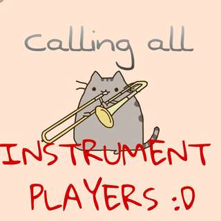 CALLING ALL INSTRUMENT PLAYERS OR CONDUCTORS