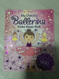 Ballerina Sticker Mosaic Book - almost brand new