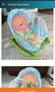 BABY ROCKING CHAIR MOSQUITO NET SWING BABY ELECTRIC