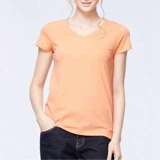 Forever 21 (F21) Orange Vneck Top
