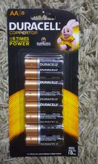 Duracell battery pack of 8