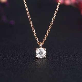 20分天然鑽石頸鏈💎簡約款18k玫瑰金🎁全新生日禮物女朋友記念日