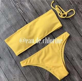 Kendall Mustard Yellow Bikini Two Piece Swimsuit
