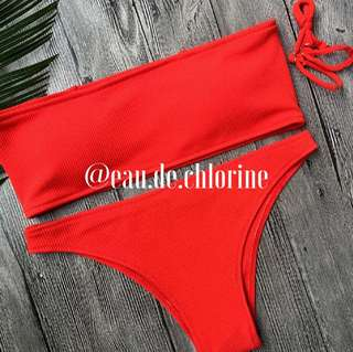 Kendall Red Bikini Red Two Piece Swimsuit