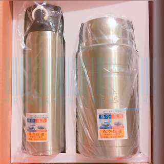 (暖水壺+湯壺) Eagle vacuum flasks gift set 保溫壺套裝