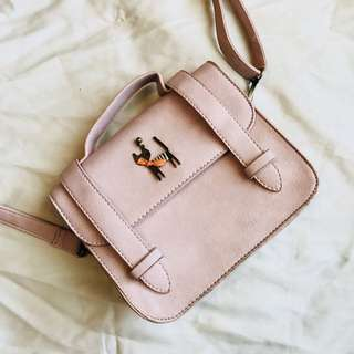 BRAND NEW ONE-OF-A-KIND GENUINE LEATHER - the most unique quirky nude pink handbag