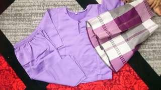 Baju Melayu Kanak Kanak Preloved Purple with Sampin