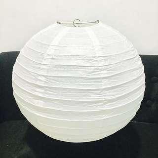 Take All 5pcs Large Size Paper Lantern -White w/ freebies