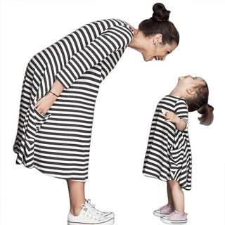 (PO) Matching Pair Stripes Mother - Daughter