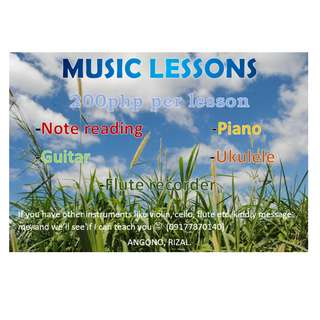 MUSIC LESSONS (200 PER HOUR)