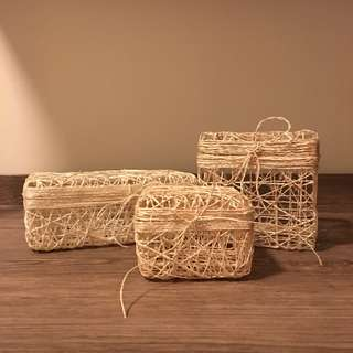 TAKE ALL: Twined Abaca / Sinamay Boxes