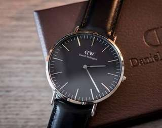 Jam tangan Daniel Wellington Ori Classic Black Sheffield