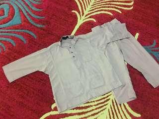 Baju Melayu Pastel Purple 4yo