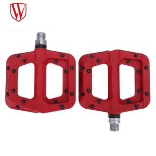 🆕! Ultra light Weight MTB Nylon Composite Red Pedals    #OK