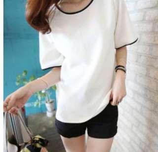 [PO] korean trendy half sleeved tee tumblr