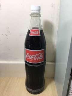 可口可樂 1升 泰國 玻璃樽