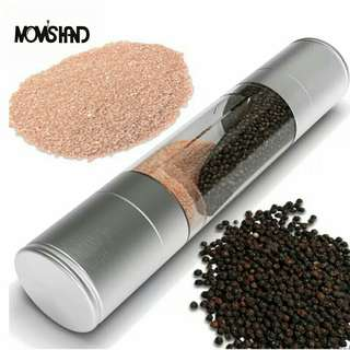 2 in 1 Stainless Steel Manual Salt and Pepper Mill Spice Grinder Cooking Tools