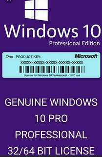 GENUINE WINDOWS 10 KEY 32 / 64BIT ACTIVATION CODE LICENSE KEY