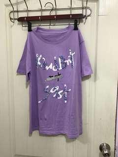 🚚 浪漫紫 珠珠T.      可穿到XL