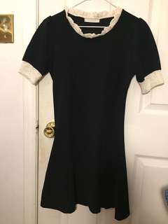 Summer navy dress with lace