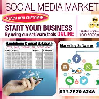 Handphone number & Email Database / Listings / Sales Leads
