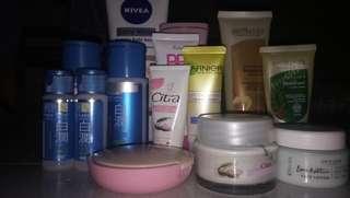SALE!!! Body Serum + Handbody,  Masker + Peeling, BB Cream, Sleeping Mask, Two Way Cake, Cream Oriflame, Paket Hada labo shirojyun (pencerah)