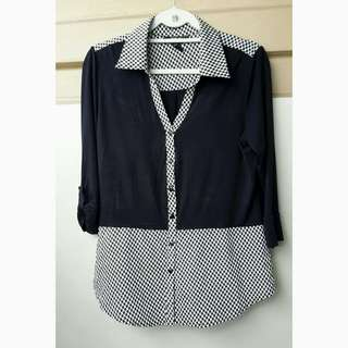 Black/checkered top