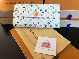 Pre Love Authentic Louis Vuitton Monogram Multicolor Sarah Long Wallet