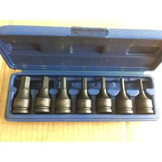 Hand Tool - Hex Bit Socket (Black) 6 Piece Set