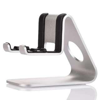 🚚 【現貨】桌上型 手機支架 多角度擺放 鋁合金材質 亞馬遜熱銷款-銀色