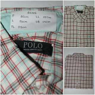 Kemeja Flannel Merek Polo Original