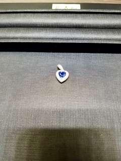 Blue sapphire with diamonds