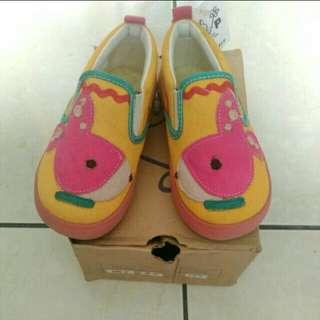 🚚 全新 黃色粉紅底 童平底鞋16.5號