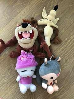 4 Brand New Stuffed Dolls