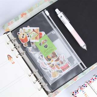 A5 Transparent Journal Sleeve Pocket With Zip